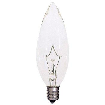 40W 120V B10 E12 Blunt Tip Krypton Clear Bulb 6-Pack