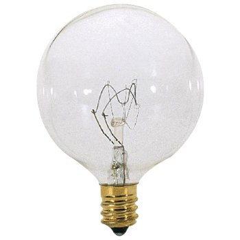 40W 120V G16 1/2 E12 Krypton Clear Bulb 6-Pack