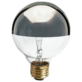 25W 120V G25 E26 Silver Crown Bulb 3-Pack