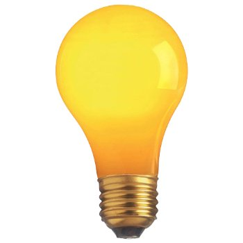 60W 120V A19 E26 Yellow Ceramic Bulb 4-Pack