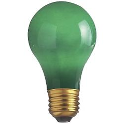 60W 120V A19 E26 Ceramic Green Bulb 4-Pack
