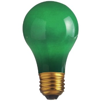 60W 130V A19 E26 Ceramic Green Bulb 4-Pack