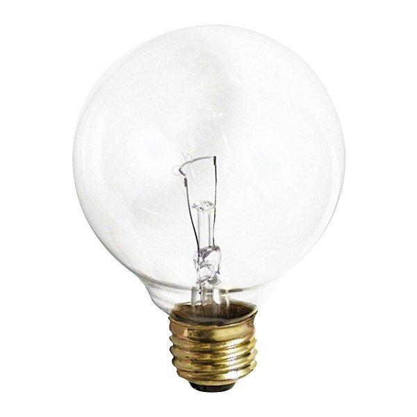 40W 120V G30 E26 Clear Bulb 3-Pack