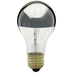 100W 120V A21 E26 Silver Crown Bulb (3-Pack)
