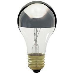 100W 130V A19 E26 Silver Crown Bulb 3-Pack