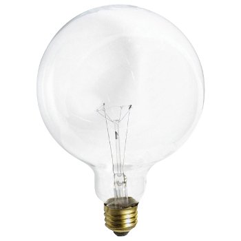 60W 120V G40 E26 Clear Bulb 2-Pack