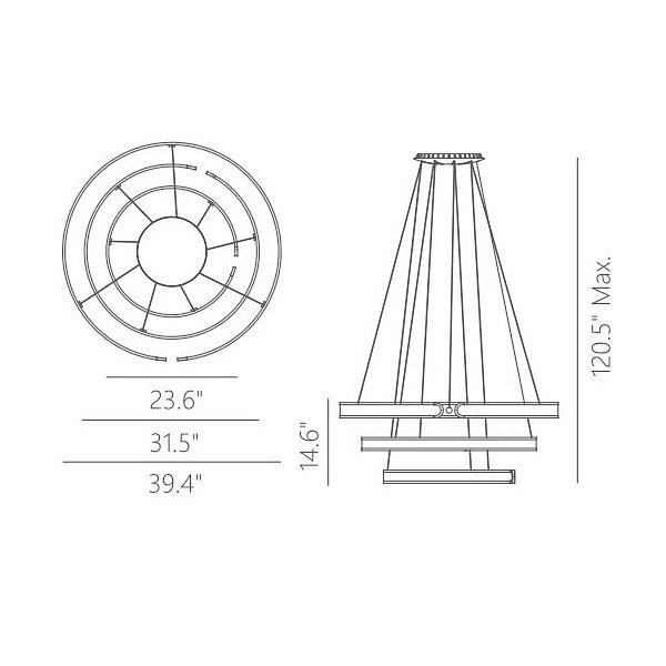 Gianni LED Multi-Tier Chandelier