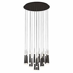 Meteor LED Round Multi-Light Pendant (Dark Grey/L)-OPEN BOX