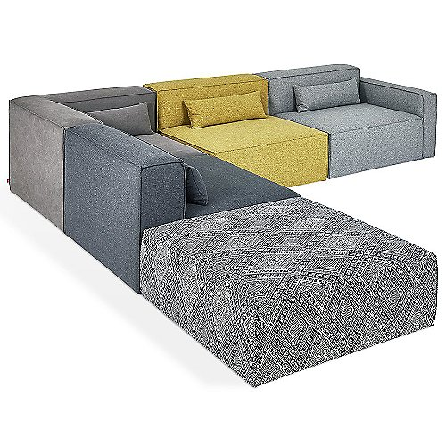 Mix Modular 5 Piece Sectional Sofa by Gus Modern at Lumens.com