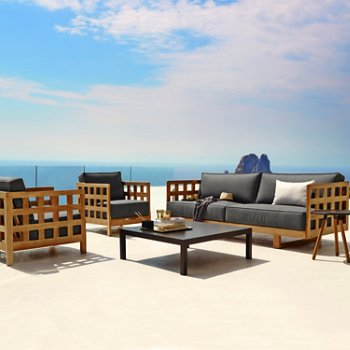 Square Teak Outdoor Lounging Collection
