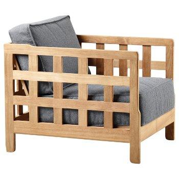 Square Teak Lounge Chair