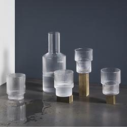 Ripple Carafe and Glass Set