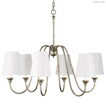 Shown in Silver Leaf finish, with optional shades