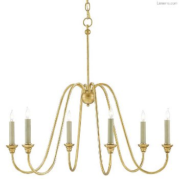 Shown in Antique Gold Leaf, without optional shades