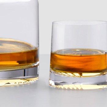 Alba Set of 2 Whisky Glasses with Alba Set of 2 High Ball Glasses