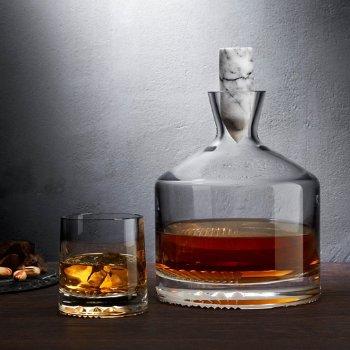 Alba Set of 2 Whisky Glasses with Alba Whisky Bottle