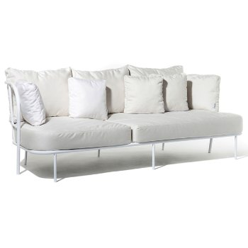 Shown in Natural White Sunbrella fabric with White frame finish