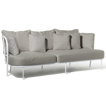 Shown in Silver Grey Sunbrella fabric with White frame finish