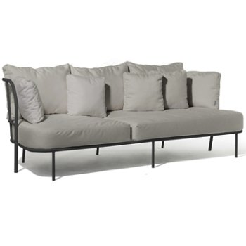 Shown in Silver Grey Sunbrella fabric with Charcoal Grey frame finish