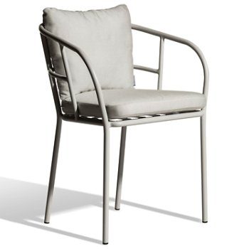 Shown in Light Grey finish, Silver Grey Sunbrella fabric