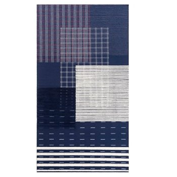 Shown in Indigo color, 5 ft 11 in x 11 ft size