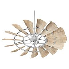 Windmill Ceiling Fan - Body Finish: Galvanized - Blade Color: Weathered Oak
