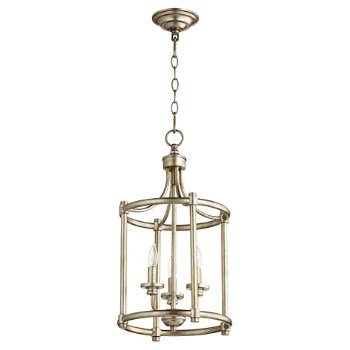 Shown in Aged Silver Leaf finish, 3 Light