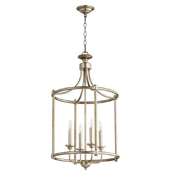 Shown in Aged Silver Leaf finish, 4 Light