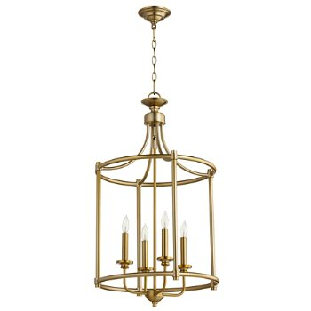 Shown in Aged Brass finish, 4 Light