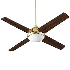 Quest 52 Inch LED Ceiling Fan - Body Finish: Satin Nickel - Blade Color: Satin Nickel