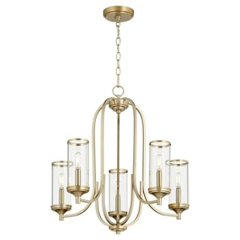 Shown in Aged Brass finish, 5 light