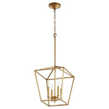 Shown in Gold Leaf finish, 4 light