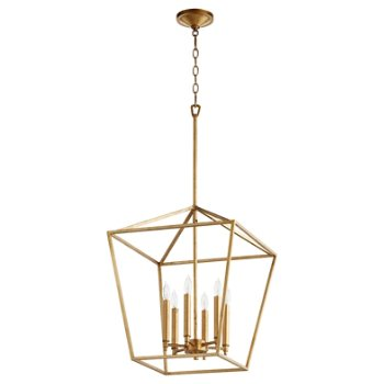Shown in Gold Leaf finish, 6 light