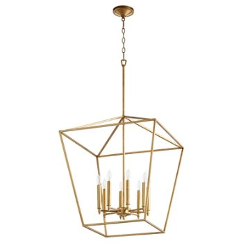 Shown in Gold Leaf finish, 8 light