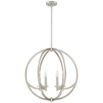 Shown in Brushed Nickel finish, Large size