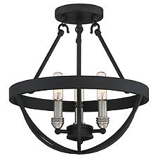 Basin Semi-Flushmount Light