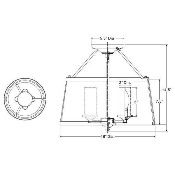 Barlow Semi-Flushmount