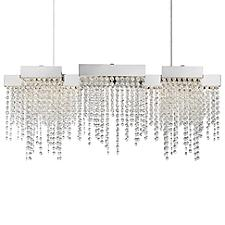 Crystal Falls LED Linear Chandelier Light