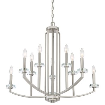 Shown in Brushed Nickel finish, 10 Light