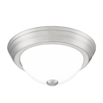 Shown in Brushed Nickel finish, Small size, lit