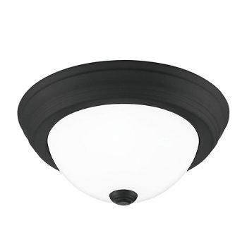 Shown in Matte Black finish, Small size, lit