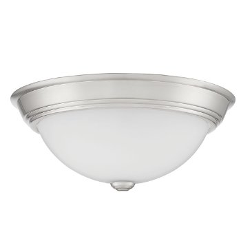 Shown in Brushed Nickel finish, Medium size, unlit
