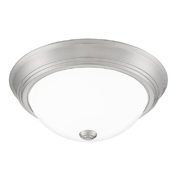 Shown in Brushed Nickel finish, Medium size, lit