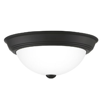 Shown in Matte Black finish, Medium size, lit