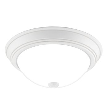 Shown in White Lustre finish, Medium size, lit