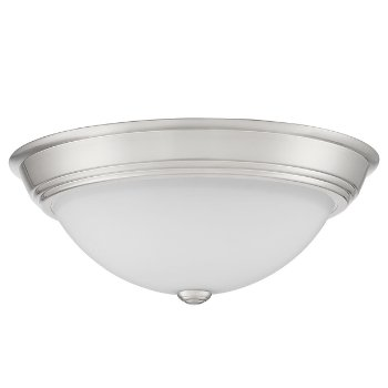 Shown in Brushed Nickel finish, Large size, unlit