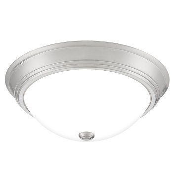 Shown in Brushed Nickel finish, Large size, lit