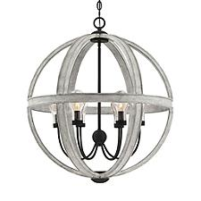 Carlisle Caged Outdoor Pendant Light