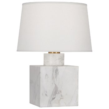 Shown in Carrara Marble with Oyster Linen shade