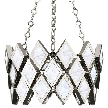 Shown in White Marble with Polished Nickel finish, 18 inch